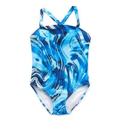 Peyton & Parker Family Swim Toddler Girls Tie Dye One Piece Swimsuit