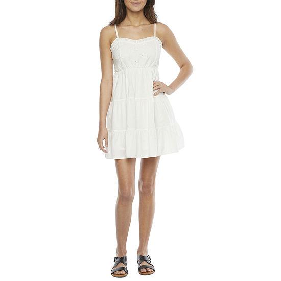 Arizona Sleeveless Babydoll Dress-Juniors