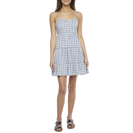 Arizona Sleeveless Babydoll Dress-Juniors