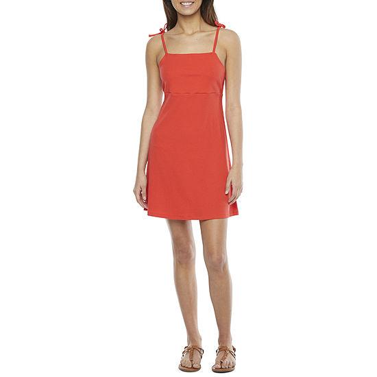 Arizona-Juniors Sleeveless Fit & Flare Dress