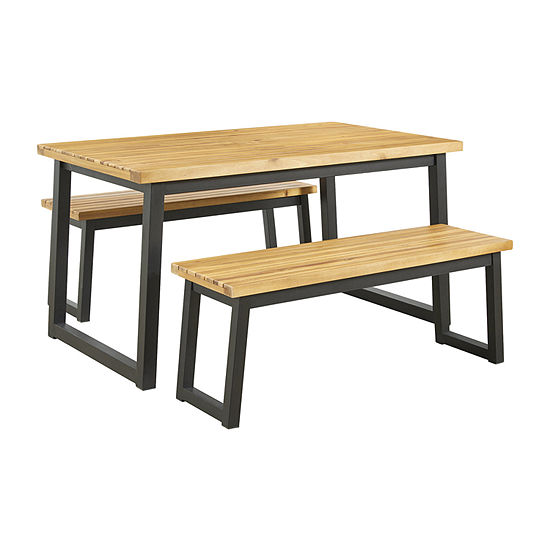 Signature Design by Ashley Town Wood Patio Collection 3-pc. Patio Dining Set