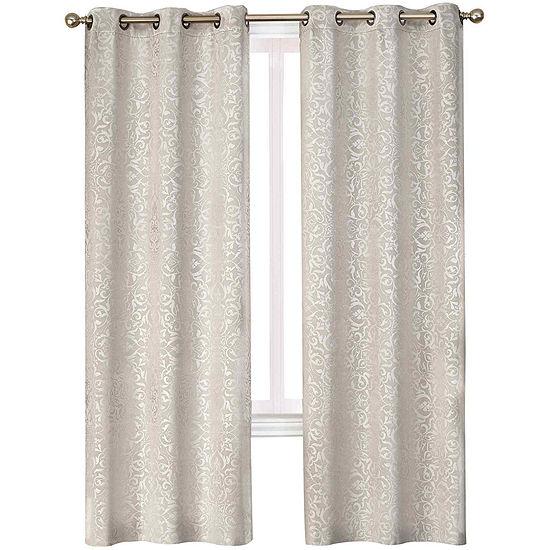 Medallion 2-Pack Blackout Grommet-Top Curtain Panels