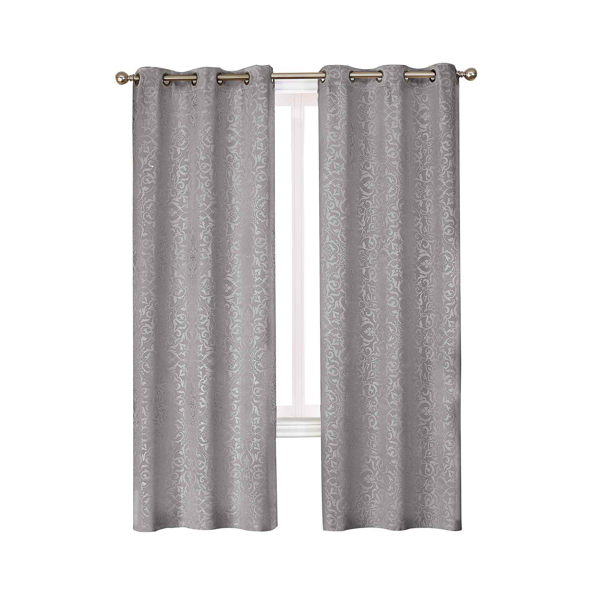 Medallion Blackout Grommet Top Curtain Panel Pair Curtain Menzilperde Net