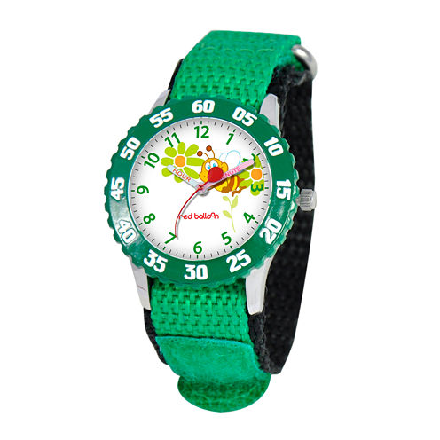 Red Balloon™ Boys' Green Bee Strap Watch