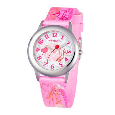 Red Balloon™ Girls' Pink Glitz Strap Watch