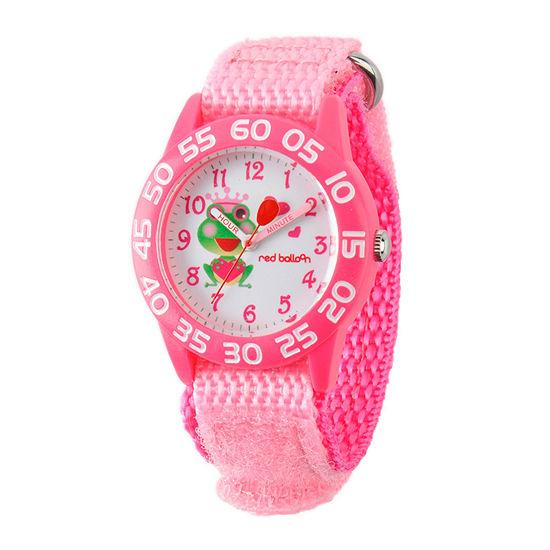 Red Balloon™ Girls Pink Frog Bracelet Watch
