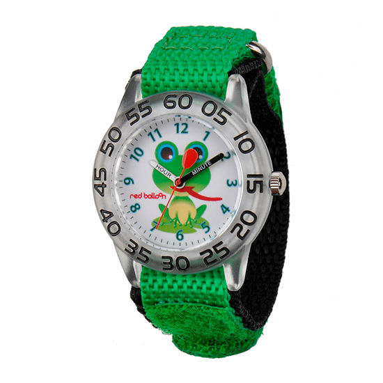 Red Balloon™ Boys Green Frog Bracelet Watch