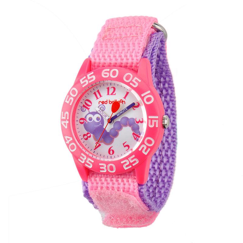 Red Balloon™ Girls Pink Caterpillar Bracelet Watch