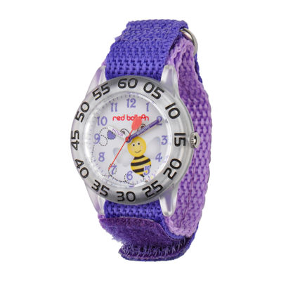 Red Balloon™ Girls Purple Bee Strap Watch