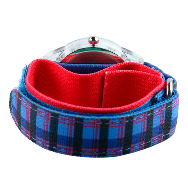 Red Balloon™ Boys Blue Plaid Strap Watch