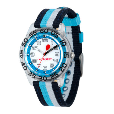 Red Balloon™ Boys Black and Blue Striped Strap Watch