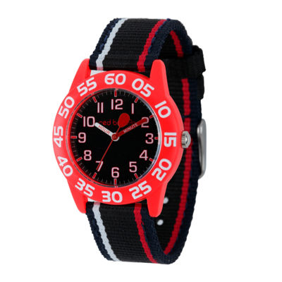 Red Balloon™ Boys Black and Red Striped Strap Watch