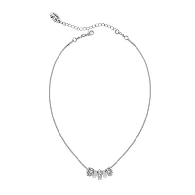 nicole by Nicole Miller® Silver-Tone Crystal Hoop Necklace