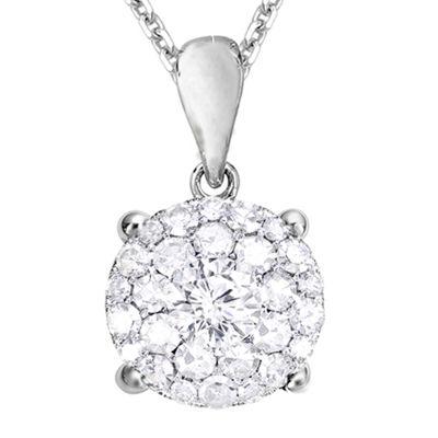 LIMITED QUANTITIES 1/4 CT. T.W. Diamond 14K White Gold Pendant Necklace