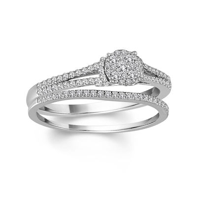 LIMITED QUANTITIES 1/4 CT. T.W. Diamond 10K White Gold Promise Ring