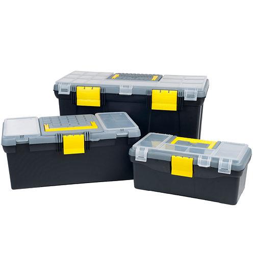 Stalwart™ Parts & Crafts 3-in-1 Toolbox Storage Set