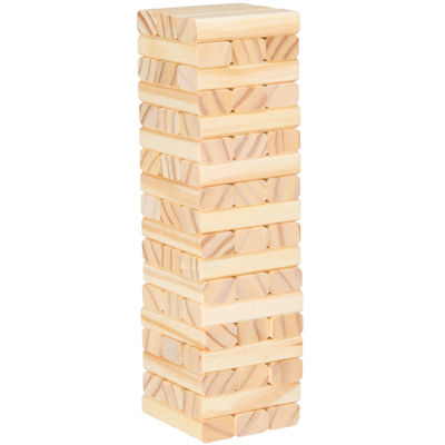 Hey! Play! Tabletop Wooden Wobble Stacking Game