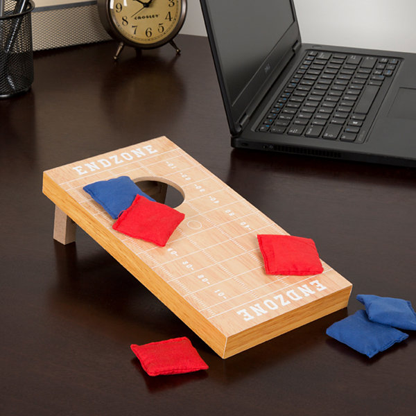 Hey! Play! Tabletop Football-Style Cornhole Game