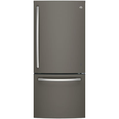 GE® Series ENERGY STAR® 20.9 Cu. Ft. Bottom Freezer Refrigerator with Ice Maker
