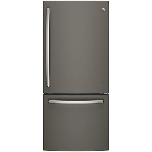 GE® Series ENERGY STAR® 20.9 Cu. Ft. Bottom Freezer Refrigerator with Ice Maker