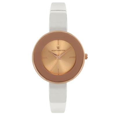 Worthington Womens Silver Tone Bangle Watch-Wt00016-05