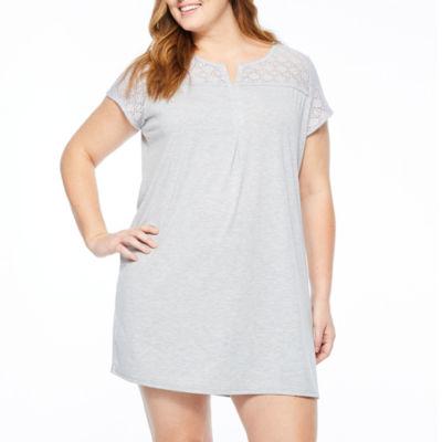 Liz Claiborne Jersey Short Sleeve Nightshirt