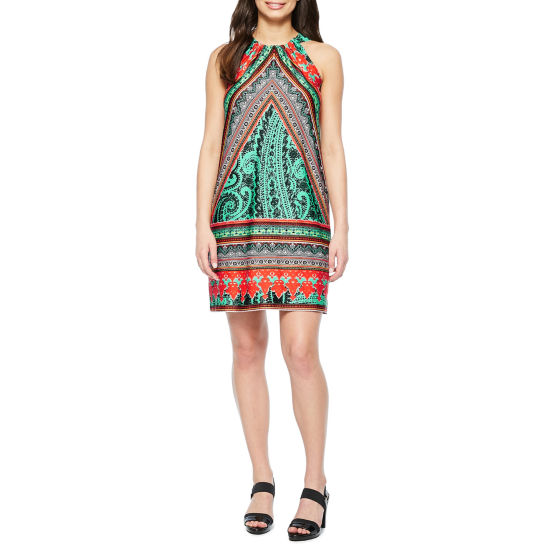 MSK Sleeveless Paisley Shift Dress