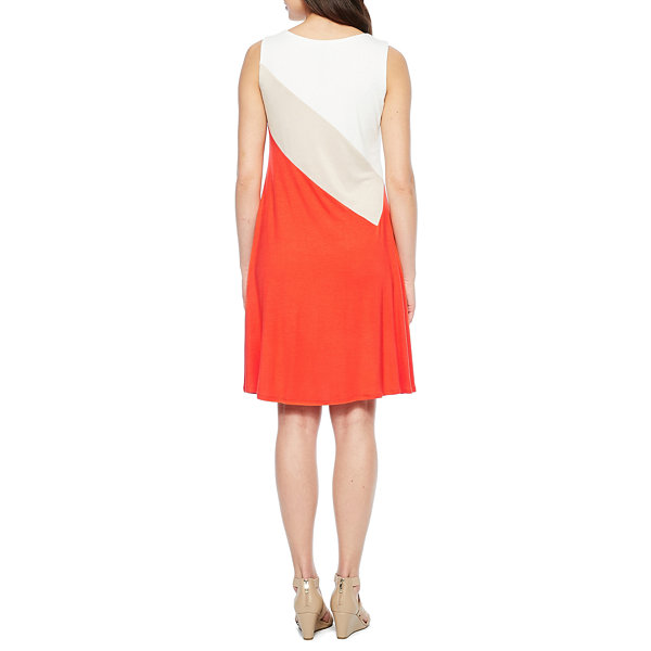 Perceptions Sleeveless Fit & Flare Dress