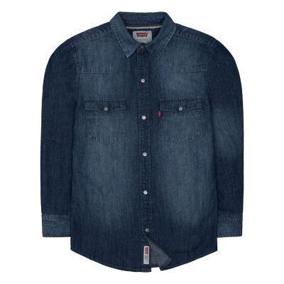 Levi's ® ™  Freeform Long Sleeve Button-Front Shirt Big Kid Boys