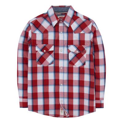 Levi's Barstow Western Plaid Shirt Boys