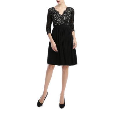 Phistic Adela Elbow Sleeve Fit & Flare Dress-Plus