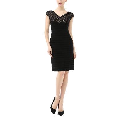 Phistic Tiffany Short Sleeve Sheath Dress-Plus