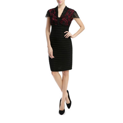 Phistic Vanessa Short Sleeve Sheath Dress-Plus