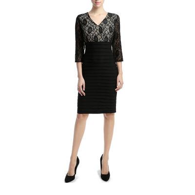 Phistic Delia Elbow Sleeve Sheath Dress