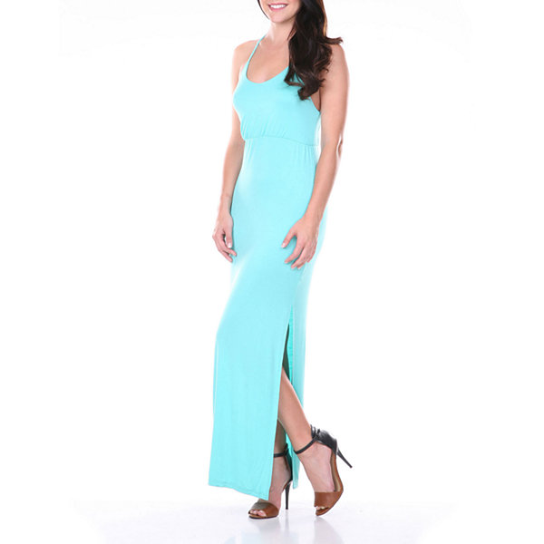 White Mark Yaya Solid Sleeveless Maxi Dress