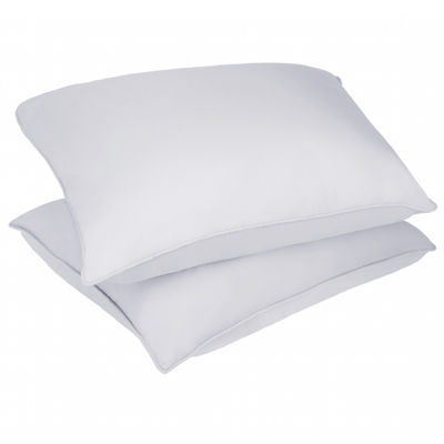 Stayclean Polyester Microfiber Stain and Water Resistant Bed Pillow 2 Pack