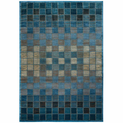 Rizzy Home Bellevue Check Rectangular Runner