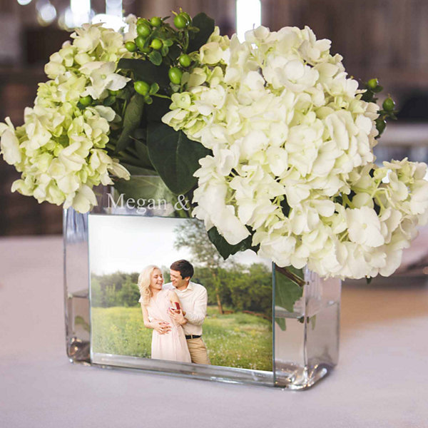 Cathys Concepts Personalized Glass Photo Vase