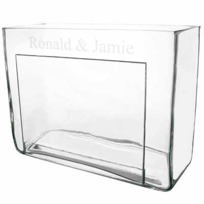 Cathy's Concepts Personalized Glass Photo Vase