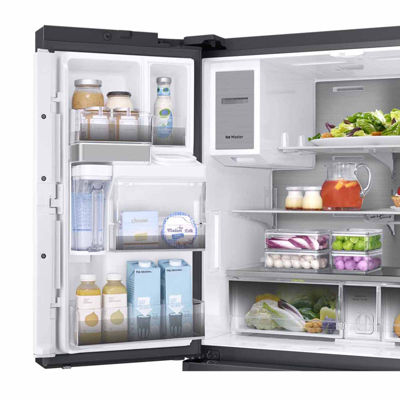 Samsung ENERGY STAR® 22.2 cu. ft. Counter-Depth Family Hub™ 4-Door French-Door Refrigerator with Polygon Handles