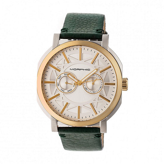 Morphic Unisex Green Leather Bracelet Watch-Mph6205