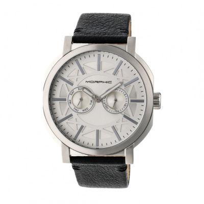 Morphic Unisex Black Strap Watch-Mph6201