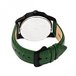 Morphic Unisex Adult Green Leather Bracelet Watch - Mph5607