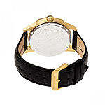 Morphic Unisex Adult Black Leather Bracelet Watch - Mph5603