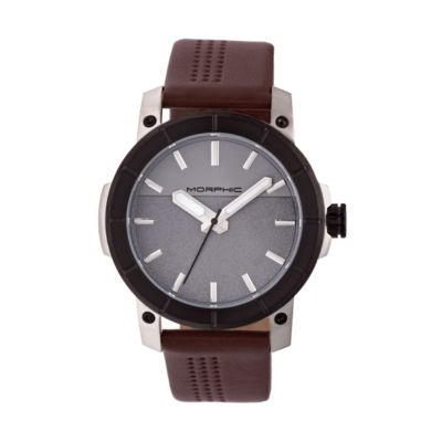 Morphic Unisex Brown Strap Watch-Mph5404