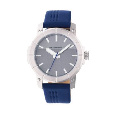 Morphic Unisex Blue Strap Watch-Mph5402