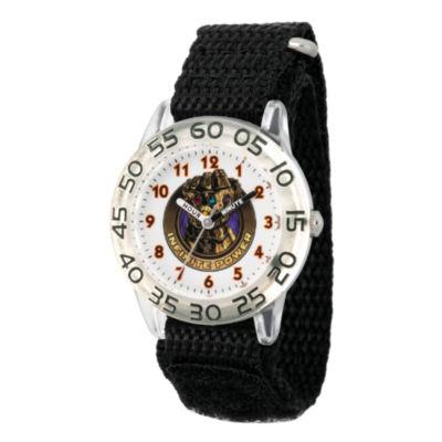 Avengers Avengers Boys Black Strap Watch-Wma000245