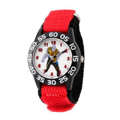 Avengers Avengers Boys Red Strap Watch-Wma000246