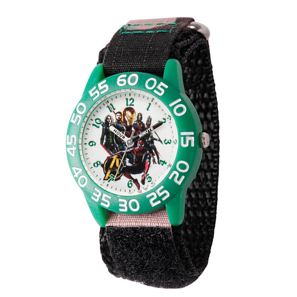 Avengers Avengers Boys Black Strap Watch-Wma000249