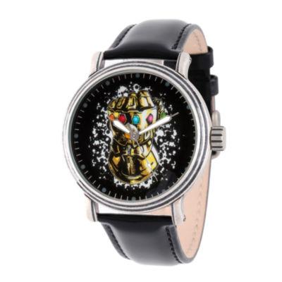 Avengers Mens Black Strap Watch-Wma000252